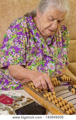 Poor Grandma With Russian Money