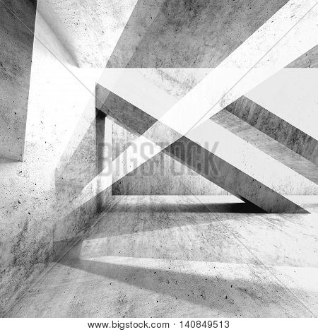 Abstract Grungy Concrete Wall Background 3D