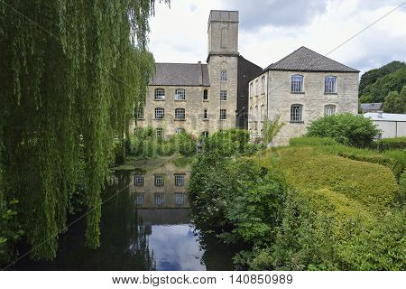River Frome & The Mill Brimscombe Port nr Stroud Gloucestershire