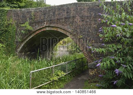 Bourne Lock Bridge east of Brimscombe Port Thames & Severn Canal Gloucestershire