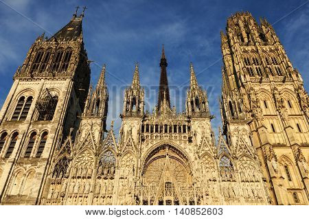 Rouen Cathedral Notre Dame. Rouen Normandy France