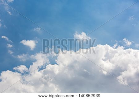 Blue Sky With White Clouds During Sunny Weather