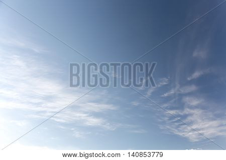 Clean Blue Sky With Several White Clouds During Sunny Days