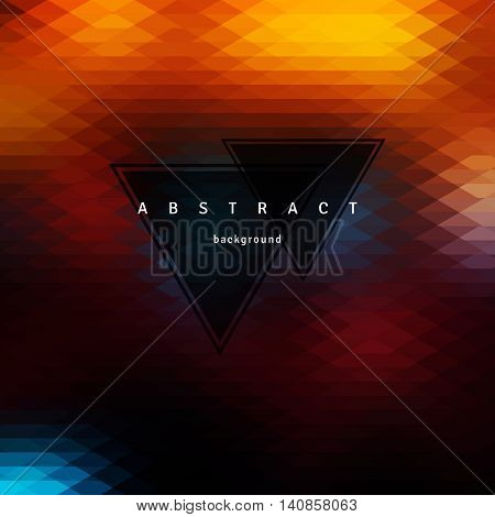 Abstract triangle background mosaic design elements. Vector illustration.