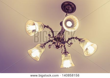 Ceiling lamp for interior decoration old style celling lamp