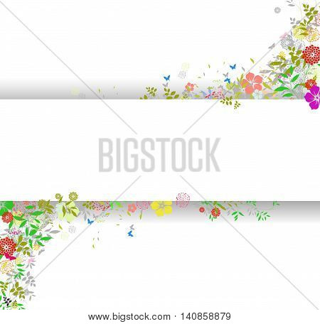 invitation card background with flower for you design