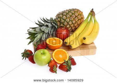 Fruit food group isolated on white background