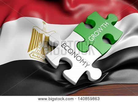 Egypt economy and financial market growth concept, 3D rendering