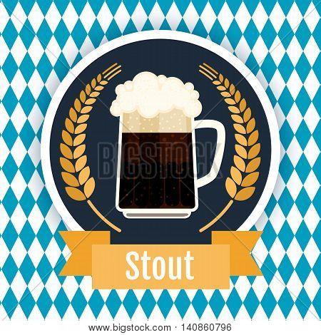 Oktoberfest beer festival logo design. Flat vector illustration.