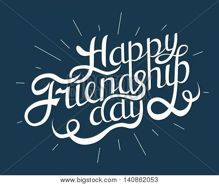 Happy Friendship Day Hand Drawing Vector Lettering design. Vector illustration
