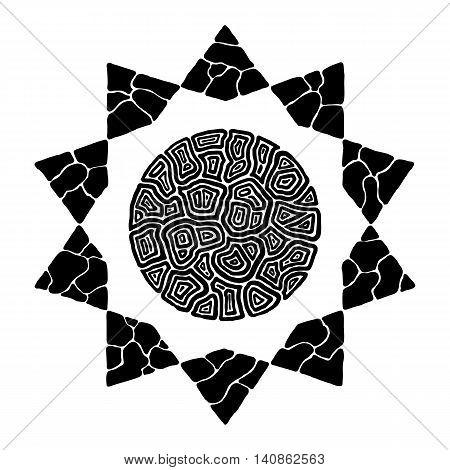 Hand drawn abstract star. clip art vector star.