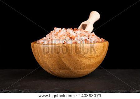 Salt in a bamboo bowl