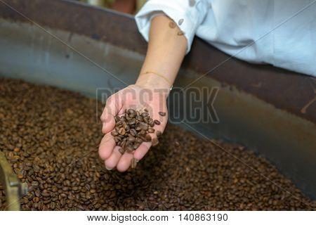 roasted black coffee