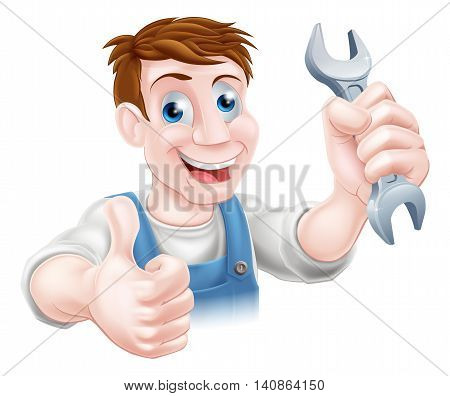 Thumbs Up Spanner Mechanic