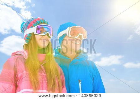 Young couple in sportswear outdoors