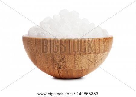 White sugar in a bowl