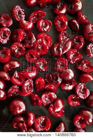 Fresh ripe cherries, closeup