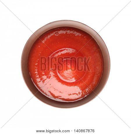 Tomato sauce isolated on white