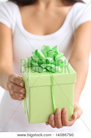 Hands holding present