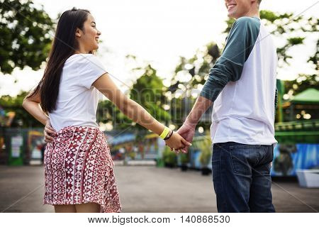 Couple Dating Relaxation Love Concept