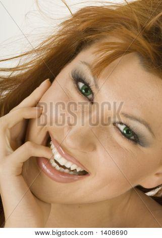 Beautiful Redheaded Woman Smiling