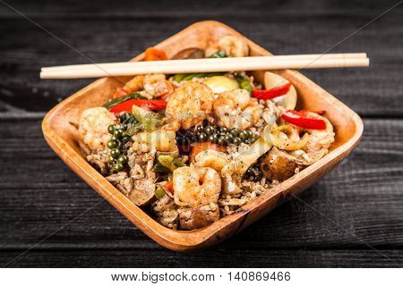 Shrimp rice dish