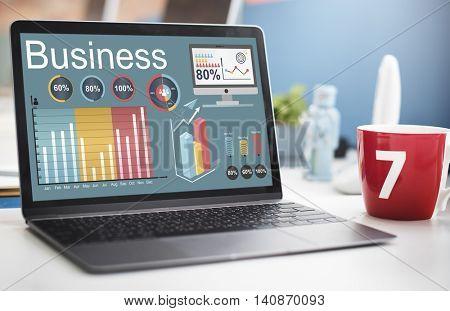 Analytics Business Statistics Data Strategy Concept