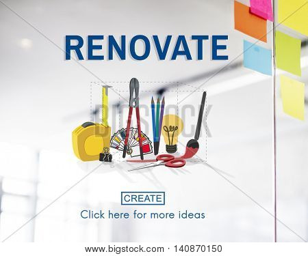 Renovate Craft Creation Ideas Design Art Concept