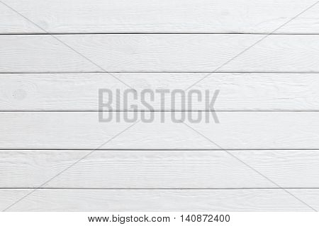 White wooden planks background. horizontal position of panels