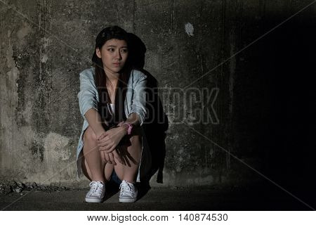 Girl In Depression , Grief , Despair, Discouragement , Despair