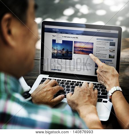 Webapge News Feed Internet Blog Laptop Concept