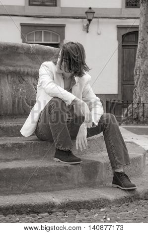 Teenager Waiting For Somebody