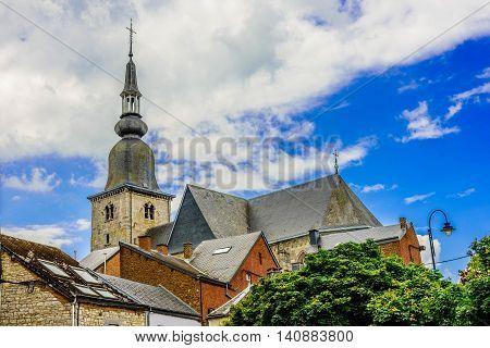 Medieval town of Marche-en-Famenne in Wallony, Beligium
