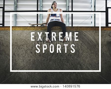 Eat Sleep Skate Ride Along Extreme Sports Get a Grip Concept poster