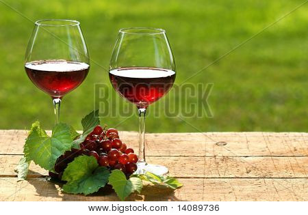 Red wine on a summer day