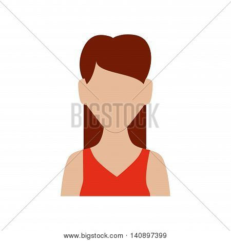 Avatar female concept represented by woman head and torso icon. Isolated and flat illustration