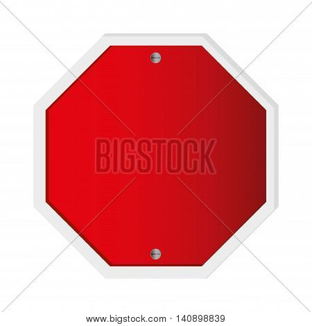 red flat design traffic sign icon vector illustration