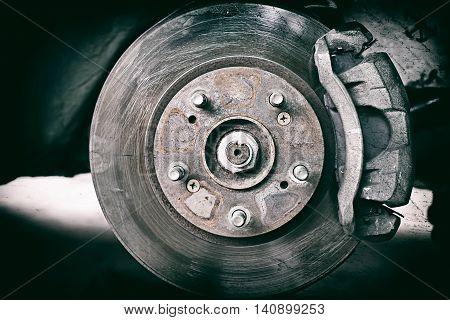 Disk Brake Retro Effect Filtered Hipster Style Image