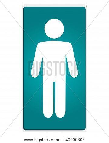 flat design man pictogram icon vector illustration