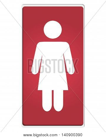 flat design woman pictogram icon vector illustration