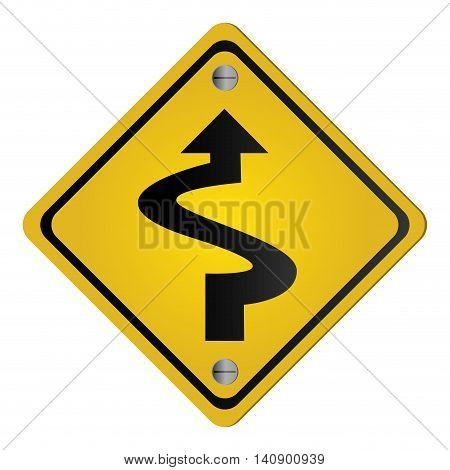 flat design traffic sign icon vector illustration