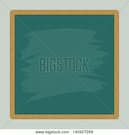 Vector stock of blank square chalkboard with wooden frame