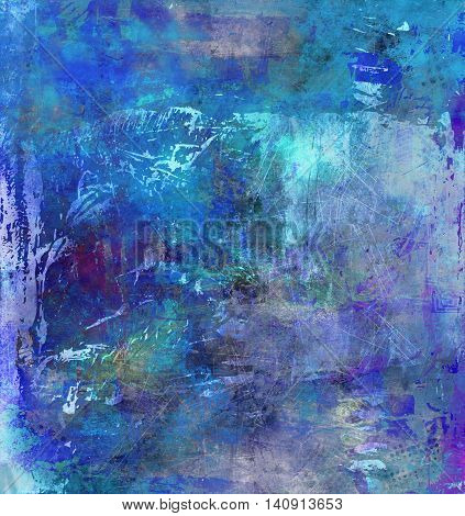 grungy background in different mostly blue and cyan shades and textures