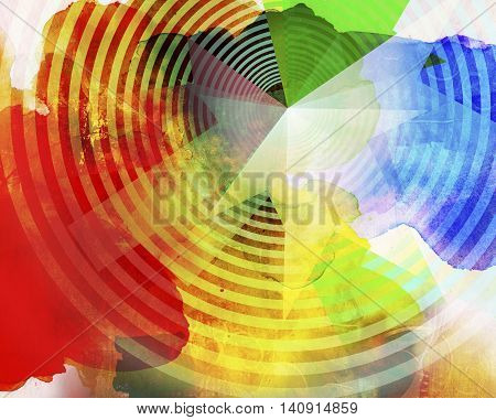 abstract geometric business concept illustration in different colors textures and pattern