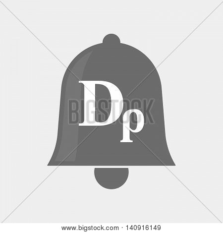Isolated Bell Icon With A Drachma Currency Sign
