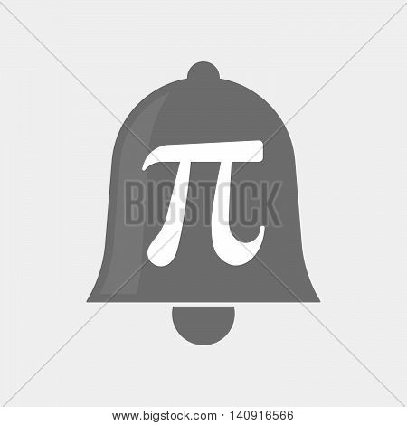Isolated Bell Icon With The Number Pi Symbol