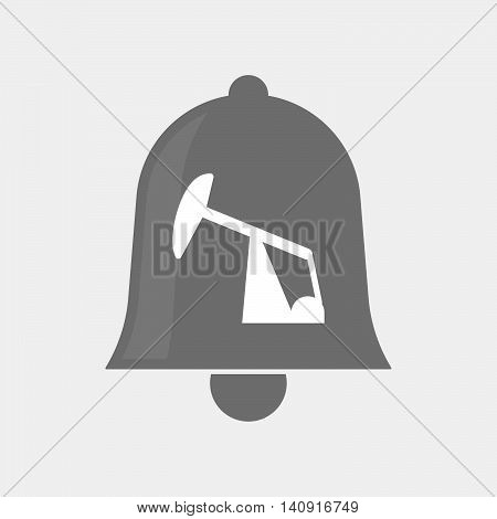 Isolated Bell Icon With A Horsehead Pump
