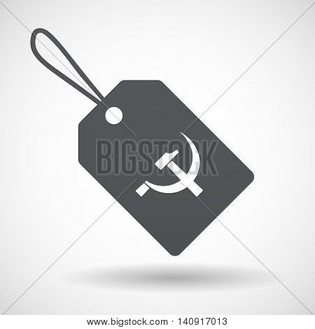 Isolated Label With  The Communist Symbol