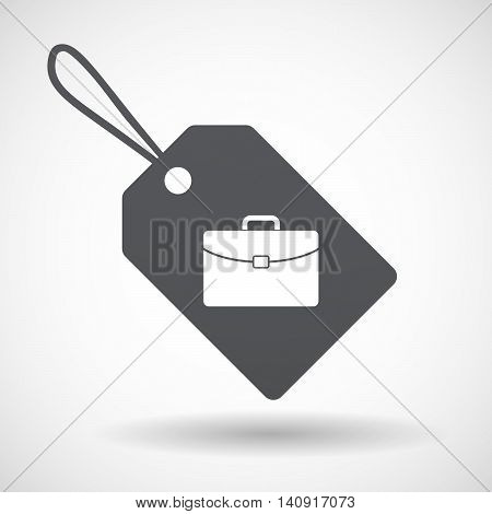 Isolated Label With  A Briefcase