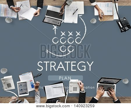 Strategy Analytics Tactics Goals Planning Concept